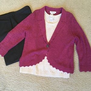Mauve cardigan sweater jacket